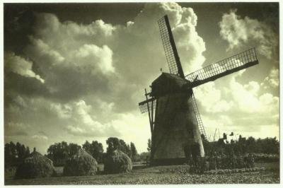 De molen van Sint-Martens-Leerne