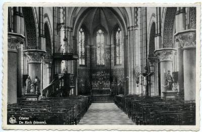 De kerk van Olsene tijdens het interbellum