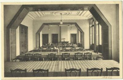 De eetzaal van home Edouard Anseele