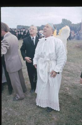 Engelen op de begrafenis van Eke
