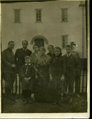 De familie Minne op de vlucht tijdens WOI