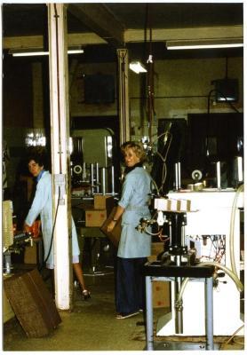 Verpakkingsafdeling fabriek LIMA jaren '70