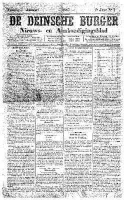 De Deinsche Burger: Zondag 7 januari 1883
