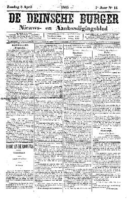 De Deinsche Burger: Zondag 8 april 1883