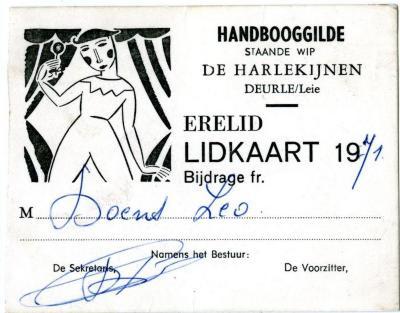 De lidkaarten van Leo Doens