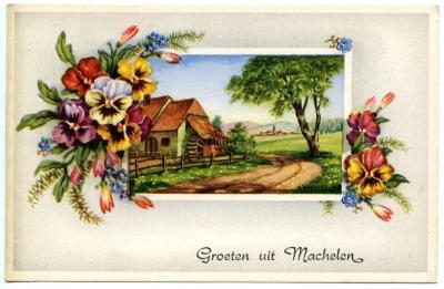Groetenkaart Machelen-aan-de-Leie