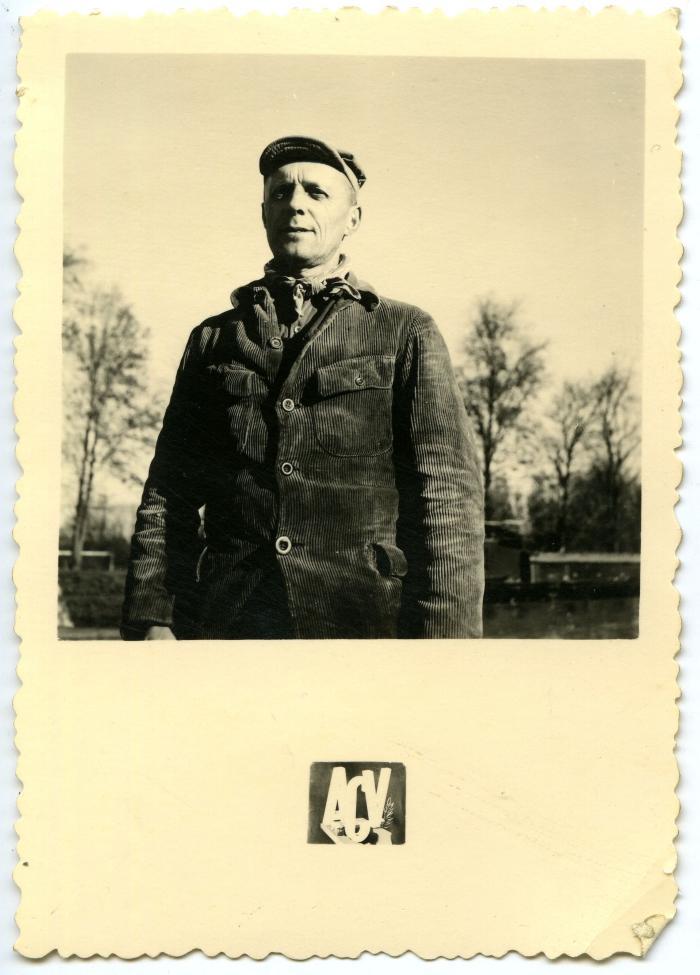 Jules Verspecht uit Petegem, ploegbaas van de suikerfabriek in Guignicourt