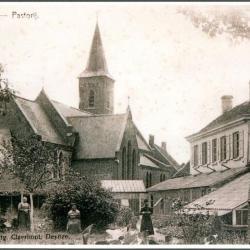 De kerk en pastorie van Meigem