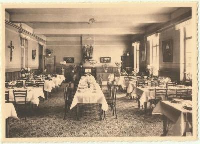De eetzaal van het Machels pensionaat