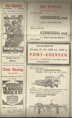 Bladzijde uit het Gavers advertentieblad 't Fonteintje