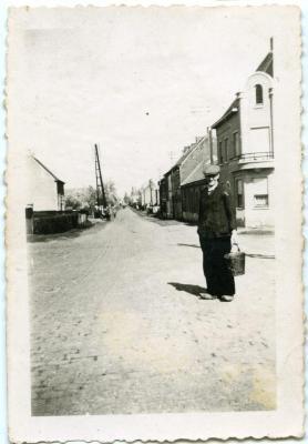 Zicht op de Olsense Statiestraat anno 1945