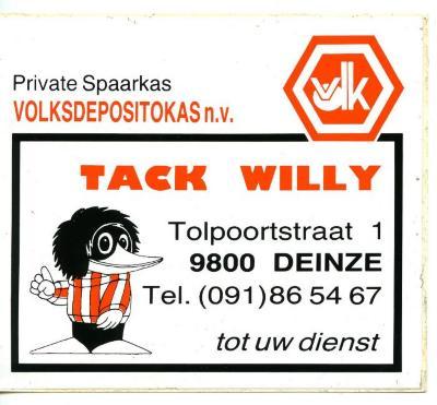 Volksdepositokas n.v. Tack Willy