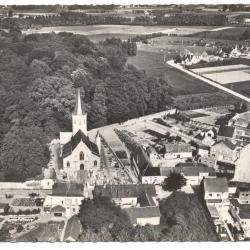 Panorama luchtopname dorp Vurste