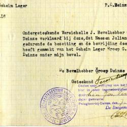 Belgisch geheim leger met Juliana Naesen