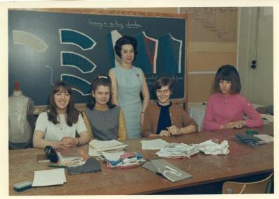 Klas snit en naad in de jaren 1960