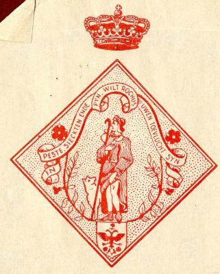Het embleem van de Deinse Rochusgilde/Burgersbond