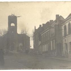 Vernielde Sint-Amanduskerk Gavere