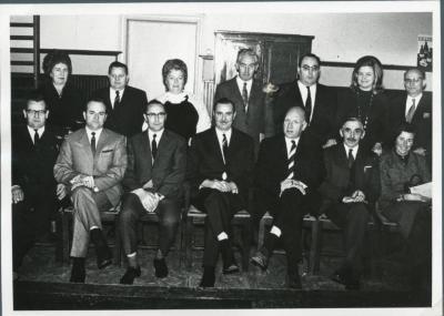 De installatie van de nieuwe Pintse gemeenteraad in 1971