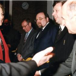 Koningin Paola brengt bezoek aan het gemeentehuis van De Pinte