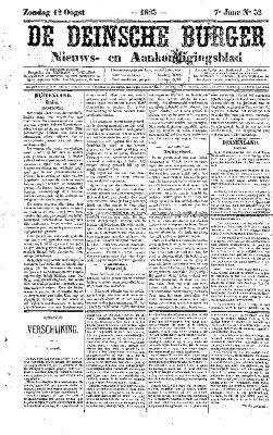 De Deinsche Burger: Zondag 12 augustus 1883