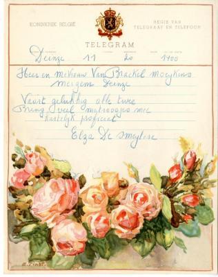 Huwelijkstelegram naar Meigem (1)
