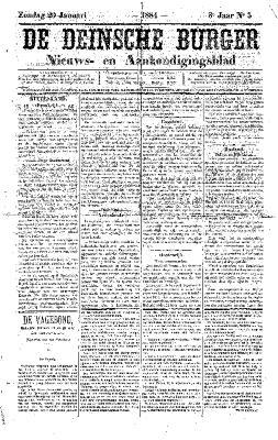 De Deinsche Burger: Zondag 20 januari 1884