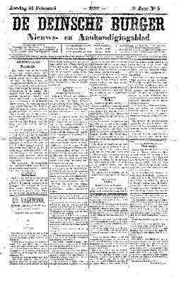 De Deinsche Burger: Zondag 24 februari 1884