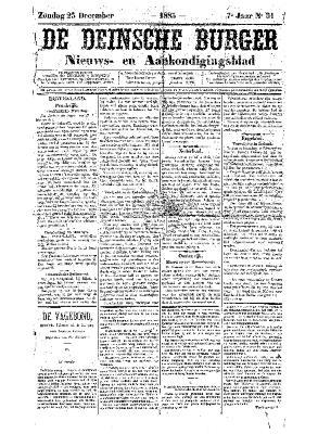 De Deinsche Burger: Zondag 23 december 1883