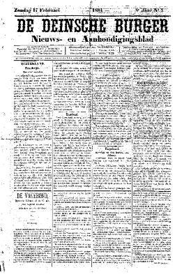 De Deinsche Burger: Zondag 17 februari 1884