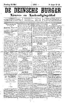 De Deinsche Burger: Zondag 25 mei 1884