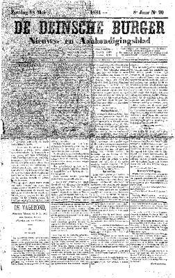 De Deinsche Burger: Zondag 11 mei 1884