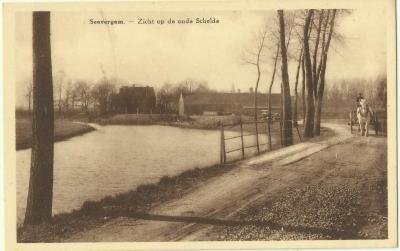 Zicht op de oude Schelde te Zevergem