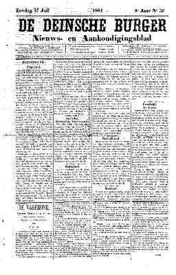 De Deinsche Burger: Zondag 27 juli 1884