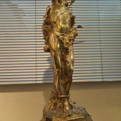 Zilveren Sint-Sebastiaansbeeld even in het bezit van de Asperse Sint-Sebastiaansgilde