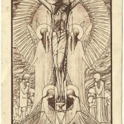 Gedenkprentje n.a.v. het zilveren priesterjubileum van Omer Van Hecke